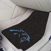 NFL - Carolina Panthers 2-piece Carpeted Car Mats 17x27