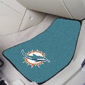 NFL - Miami Dolphins 2-piece Carpeted Car Mats 17x27