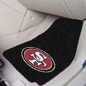 NFL - San Francisco 49ers 2-piece Carpeted Car Mats 17x27