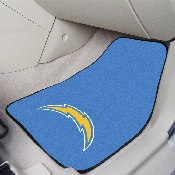 NFL - San Diego Chargers 2-piece Carpeted Car Mats 17x27