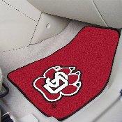 South Dakota 2-piece Carpeted Car Mats 17x27