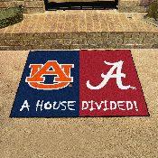 Alabama - Auburn House Divided Rugs 33.75x42.5