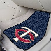 MLB - Minnesota Twins 2-piece Carpeted Car Mats 17x27