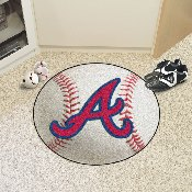 MLB - Atlanta Braves Baseball Mat 27 diameter