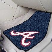 MLB - Atlanta Braves 2-piece Carpeted Car Mats 17x27