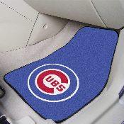 MLB - Chicago Cubs 2-piece Carpeted Car Mats 17x27
