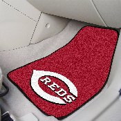 MLB - Cincinnati Reds 2-piece Carpeted Car Mats 17x27