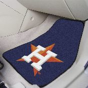 MLB - Houston Astros 2-piece Carpeted Car Mats 17x27