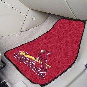 MLB - St. Louis Cardinals 2-piece Carpeted Car Mats 17x27