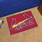 MLB - St. Louis Cardinals Starter Rug 19x30