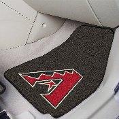 MLB - Arizona Diamondbacks 2-piece Carpeted Car Mats 17x27