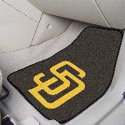 MLB - San Diego Padres 2-piece Carpeted Car Mats 17x27