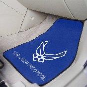 Air Force 2-piece Carpeted Car Mats 17x27