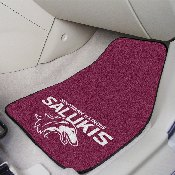 Southern Illinois 2-pc Carpeted Car Mats 17x27