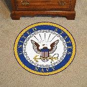 Navy Round Rug 44 diameter