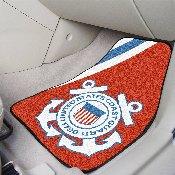 Coast Guard 2-piece Carpeted Car Mats 17x27