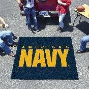 Navy Tailgater Rug 5'x6'