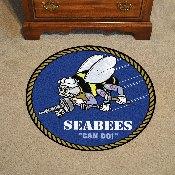 Navy 44 Roung Rugs 44 diameter