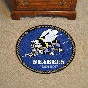 Navy 27 Roung Rugs 27 diameter