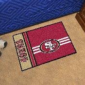 NFL - San Francisco 49ers Uniform Inspired Starter Rug 19x30
