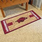 Arkansas Basketball Court Runner 30x72