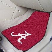Alabama Crimson 'A' 2-piece Carpeted Car Mats 17x27