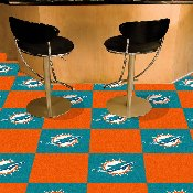 NFL - Miami Dolphins Carpet Tiles 18x18 tiles