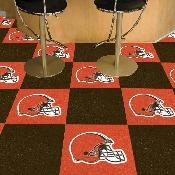 NFL - Cleveland Browns Carpet Tiles 18x18 tiles