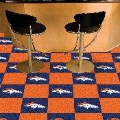 NFL - Denver Broncos Carpet Tiles 18x18 tiles