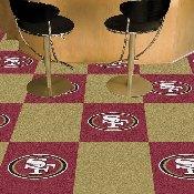 NFL - San Francisco 49ers Carpet Tiles 18x18 tiles