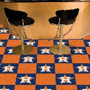 MLB - Houston Astros Carpet Tiles 18x18 tiles