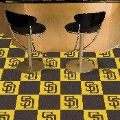 MLB - San Diego Padres Carpet Tiles 18x18 tiles