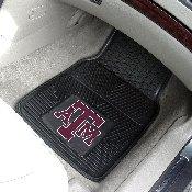 Texas A&M Heavy Duty 2-Piece Vinyl Car Mats 17x27