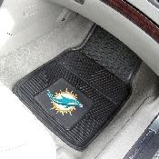NFL - Miami Dolphins Heavy Duty 2-Piece Vinyl Car Mats 17x27