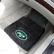 NFL - New York Jets Heavy Duty 2-Piece Vinyl Car Mats 17x27