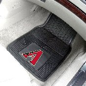 MLB - Arizona Diamondbacks Heavy Duty 2-Piece Vinyl Car Mats 17x27