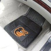 MLB - Baltimore Orioles Heavy Duty 2-Piece Vinyl Car Mats 17x27