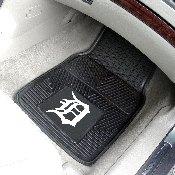 MLB - Detroit Tigers Heavy Duty 2-Piece Vinyl Car Mats 17x27