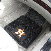MLB - Houston Astros Heavy Duty 2-Piece Vinyl Car Mats 17x27