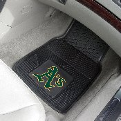 MLB - Oakland Athletics Heavy Duty 2-Piece Vinyl Car Mats 17x27