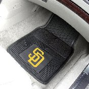 MLB - San Diego Padres Heavy Duty 2-Piece Vinyl Car Mats 17x27