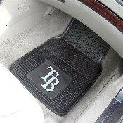 MLB - Tampa Bay Rays Heavy Duty 2-Piece Vinyl Car Mats 17x27