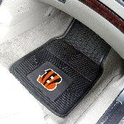 NFL - Cincinnati Bengals Heavy Duty 2-Piece Vinyl Car Mats 17x27