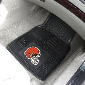 NFL - Cleveland Browns Heavy Duty 2-Piece Vinyl Car Mats 17x27