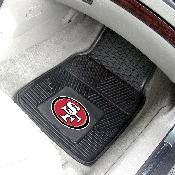 NFL - San Francisco 49ers Heavy Duty 2-Piece Vinyl Car Mats 17x27