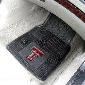 Texas Tech Heavy Duty 2-Piece Vinyl Car Mats 17x27