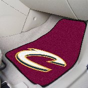 NBA - Cleveland Cavaliers 2-piece Carpeted Car Mats 17x27