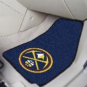 NBA - Denver Nuggets 2-piece Carpeted Car Mats 17x27