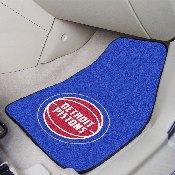 NBA - Detroit Pistons 2-pc Carpeted Car Mats 17x27