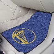 NBA - Golden State Warriors 2-piece Carpeted Car Mats 17x27